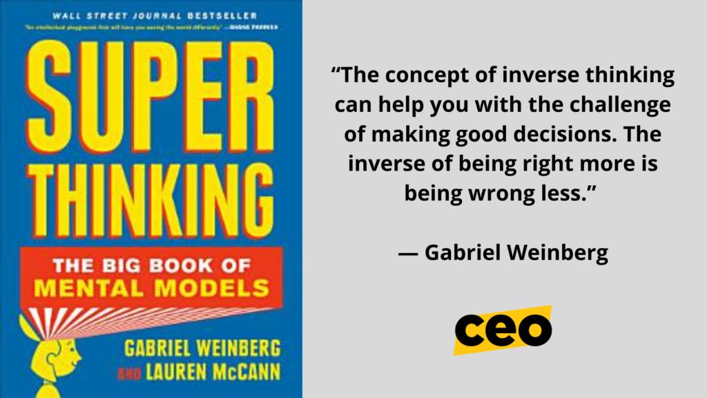 Gabriel Weinberg Book, Mental Models